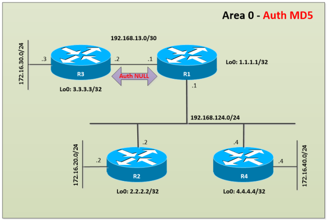 OSPF-NULL-A-Topology